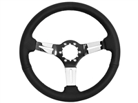 S6 , Sport , Black , leather , Steering Wheel , chrome Center , Black , Auto Pro USA , GM , MOPAR , FORD , Corvette , Mustang , Charger , Challenger , Camaro , El camino , Impala , bel air , nova , chevy II , oldsmobile , firebird , bronco , vw ,