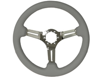 S6 , Sport , grey , leather , Steering Wheel , chrome Center , auto pro usa , GM , MOPAR , FORD , Corvette , Mustang , Charger , Challenger , Camaro , El camino , Impala , bel air , nova , chevy II , oldsmobile , firebird , bronco , vw ,