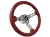 Ford , V8 , Steering Wheel , Kit, Red , Sport , Chrome , Mustang , Bronco , Torino , Fairlane , LTD , Pick up , Thunderbird , Ranchero , Auto Pro USA , Volante ,