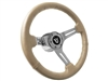 V8 Tan Leather Steering Wheel Chrome Kit