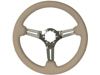 S6 , Sport , tan , leather , Steering Wheel , chrome Center , Auto Pro USA , Volante , GM , MOPAR , FORD , Corvette , Mustang , Charger , Challenger , Camaro , El camino , Impala , bel air , nova , chevy II , oldsmobile , firebird , bronco , vw ,