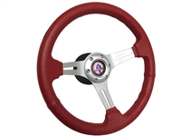 Ford Mustang Cobra Red Leather Steering Wheel Kit, Volante