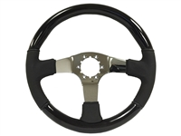 Auto pro usa , Volante , Black ash, Wood , Steering Wheel , chrome , Black , GM , MOPAR , FORD , Corvette , Mustang , Charger , Challenger , Camaro , El camino , Impala , bel air , nova , chevy II , oldsmobile , firebird , bronco , vw , volkswagen ,