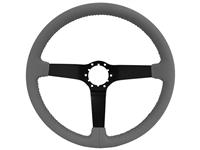 Premium Grey Leather Step Series Black Center S6 Sport Steering Wheel