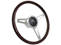 Mercury Courgar S9 Espresso Stained Wood Steering Wheel