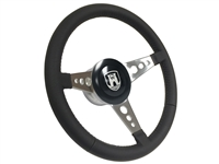 VW S9 Premium Leather Steering Wheel Black Etched Castle Kit