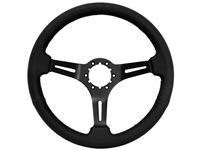 Auto Pro USA , Volante , Sport , black , leather , Steering Wheel , black Center , anodized , GM , MOPAR , FORD , Corvette , Mustang , Charger , Challenger , Camaro , El camino , Impala , bel air , nova , chevy II , oldsmobile , firebird , bronco , vw