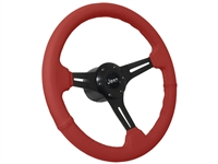 Jeep Red Leather Steering Wheel Black Kit