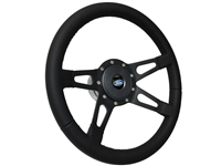 Ford S9 Steering Wheel Black Kit , Slotted 4-Spoke