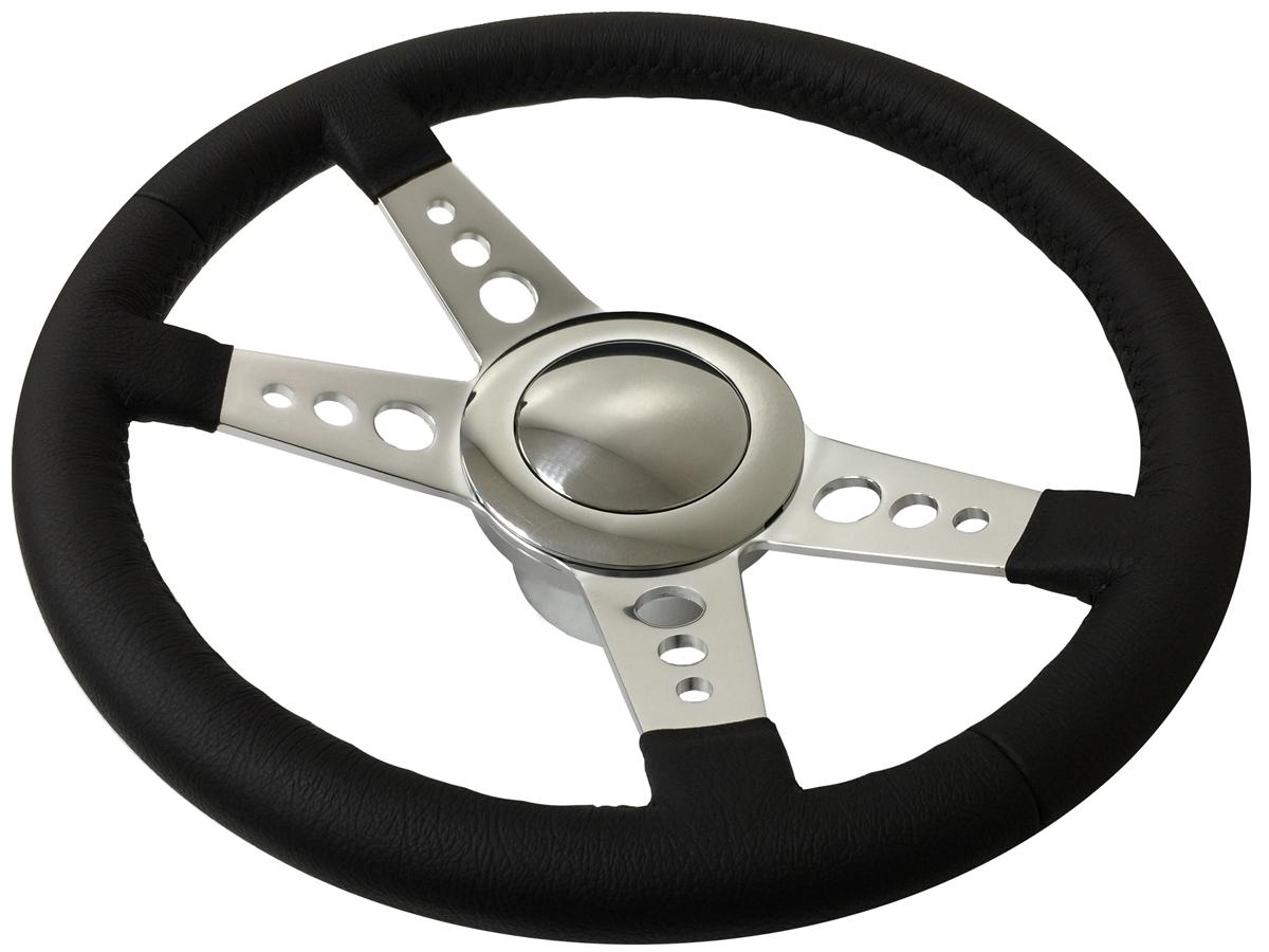 Chrome Flamed Billet Aluminum Steering Wheel Column hub Adapter GM 9 hole bolt