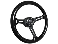 Mercury Cougar Black Ash Wood Steering Wheel Black Kit