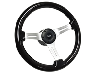 Jeep Black Ash Wood Steering Wheel Brushed and black Kit