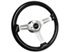 Jeep Black Ash Wood Steering Wheel Brushed Kit