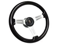 Ford Mustang Black Wood Brushed Steering Wheel Kit