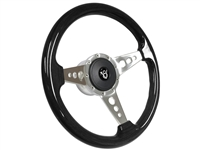 V8 S9 Black Ash Steering Wheel 3 Spoke holes