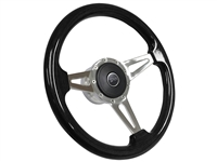 Mercury Cougar S9 Black Ash Wood Steering Wheel Kit