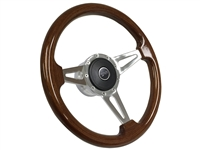 Mercury Cougar S9 Mahogany Wood Steering Wheel Kit