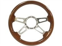 Auto Pro USA , Volante , S9 , Sport , Brown , wood , Steering Wheel , GM , MOPAR , FORD , Corvette , Mustang , Charger , Challenger , Camaro , El camino , Impala , bel air , nova , chevy II , oldsmobile , firebird , bronco , vw , volkswagen ,