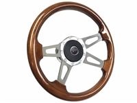 Mercury Cougar S9 Mahogany Finished Wood Steering Wheel Slotted Kit