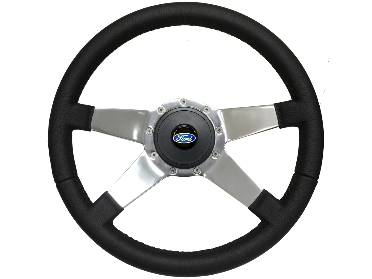 Ford S9 Premium Leather Steering Wheel Kit | Classic Ford Emblem