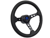 Mopar S6 Black Leather Steering Wheel Kit with holes design