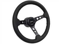 Jeep Mopar S6 Black Leather Steering Wheel kit with Holes
