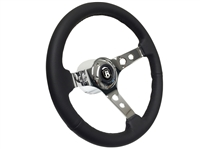 VW S6 Sport Leather Steering Wheel Chrome Castle Kit with Hole Design