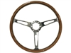 Auto pro USA,  Volante , classic , wood , riveted , slots , Steering Wheel , anodized , GM , MOPAR , FORD , Corvette , Mustang , Charger , Challenger , Camaro , El camino , Impala , bel air , nova , chevy II , oldsmobile , firebird , bronco , vw ,