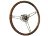 Bronco S6 Classic Wood Steering Wheel Kit