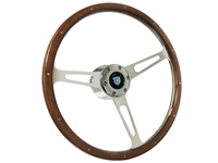 Cadillac S6 Classic Walnut Wood Steering Wheel Kit with Rivets