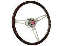Mercury S6 Classic Espresso Wood Steering Wheel Kit