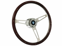 Cadillac S6 Classic Espresso Wood Steering Wheel Kit with Rivets