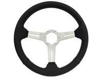 Auto Pro USA , Volante , Brushed , perforated  , slots , black stitch , Steering Wheel ,  GM , MOPAR , FORD , Corvette , Mustang , Charger , Challenger , Camaro , El camino , Impala , bel air , nova , chevy II , oldsmobile , firebird , bronco , vw