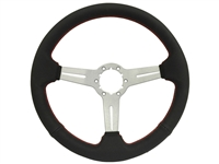 Auto Pro USA , Volante , Brushed , perforated leather , slots , red stitch , Steering Wheel  , GM , MOPAR , FORD , Corvette , Mustang , Charger , Challenger , Camaro , El camino , Impala , bel air , nova , chevy II , oldsmobile , firebird , bronco , vw ,