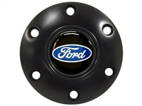 S6 Black Horn Button with Ford Blue Oval Emblem