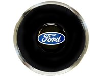 S6 Deluxe Horn Button with Ford Script Blue Oval Emblem