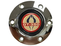 Volante S6 Chrome Horn Button with Ford Cobra GT-350 Emblem