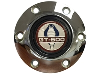 Volante S6 Chrome Horn Button with Ford Cobra GT-500 Emblem
