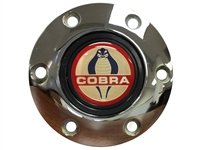 Volante S6 Chrome Horn Button with Ford Cobra Emblem