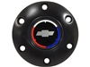 Volante S6 Black Horn Button with Chevy Tri Color Bow Tie Emblem