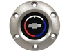 Volante S6 Brushed Horn Button with Chevy Tri Color Bow Tie Emblem
