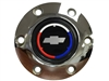 Volante S6 Chrome Horn Button with Chevy Tri Color Bow Tie Emblem