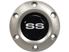 Volante S6 Brushed Horn Button with Silver SS Emblem