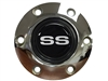 Volante S6 Chrome Horn Button with Silver SS Emblem