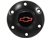 Volante S6 Black Horn Button with Red Chevy Bow Tie Emblem