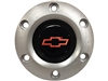 S6 Brushed Horn Button with Red Chevy Bow Tie Emblem