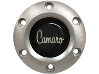 S6 Brushed Horn Button with Camaro Script Emblem