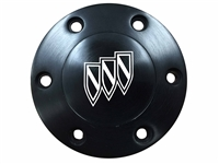 Volante S6 Etched Black Buick Tri Shield Horn Button