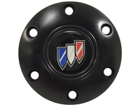 S6 Black Horn Button with Buick Tri-Shield Emblem