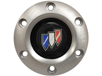 S6 Brushed Horn Button with Buick Tri-Shield Emblem
